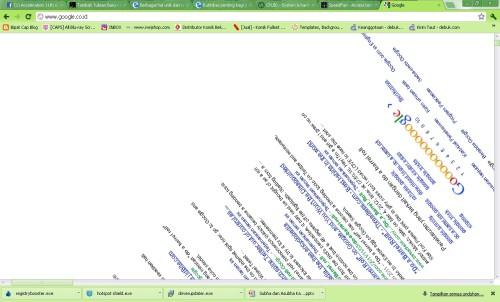Tampilan Google setelah mengetik do a barrel roll