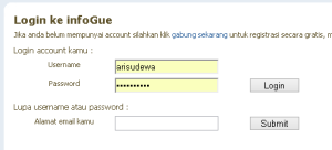 login ke infogue