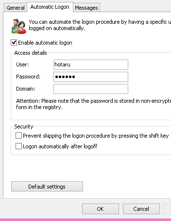 username dan password - user logon - tuneup utilities
